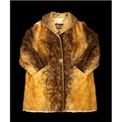 Early Martin Victor Fur Leopard Seal Skin Coat
