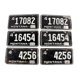 1958 Montana License Plate Collection