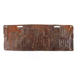 1915 Montana License Plate