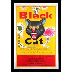 Black Cat Firecracker Advertising Poster