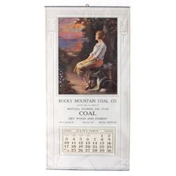 1926 Rocky Mountain Coal Calendar Butte Montana