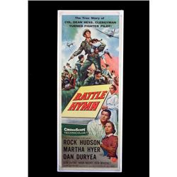 Original Battle Hymn Movie Poster 1957 Rock Hudson