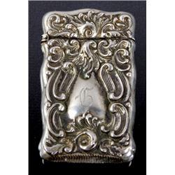 Antique Victorian Silveroin Match Safe