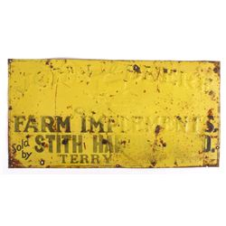 John Deere Quality - Terry, MT Vendor Sign c.1912-