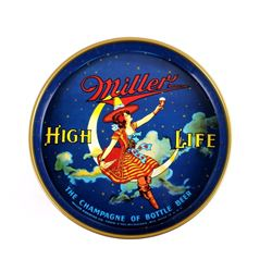 """Miller High Life 12"""" 40's Miller Lady Beer Tray"""