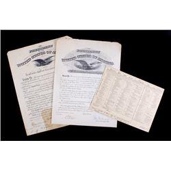 World War 1 & Postwar Era Promotional Paperwork