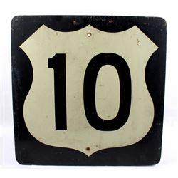 U.S. Highway 10 Sign