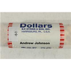 $25 ROLL OF 2011 ANDREW JOHNSON PRESIDENTIAL $'S