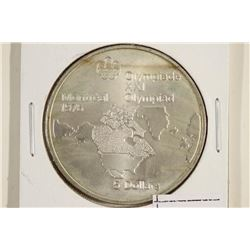 1973 CANADA SILVER $5 1976 MONTREAL OLYMPICS UNC