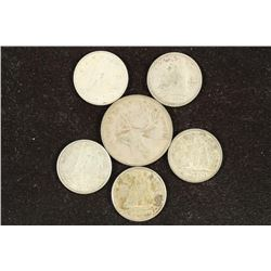 75 CENTS FACE VALUE CANADIAN SILVER COINAGE