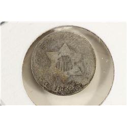 1852 THREE CENT PIECE (SILVER)