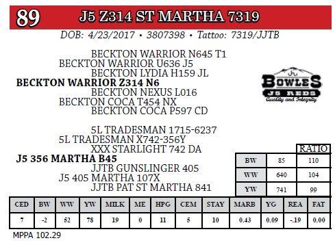 J5 Z314 ST MARTHA 7319
