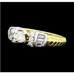0.64 ctw Diamond Ring - 14KT Yellow And White Gold