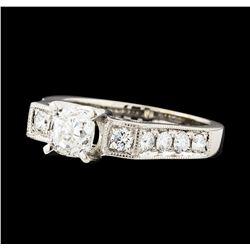 1.54 ctw Diamond Ring - 18KT White Gold