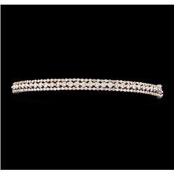 1.68 ctw Diamond Bangle Bracelet - 14KT Rose Gold