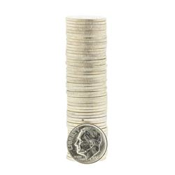 Roll of (50) 1952-D Brilliant Uncirculated Roosevelt Dimes