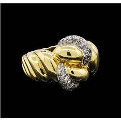 18KT Two-Tone Gold 0.43 ctw Diamond Ring