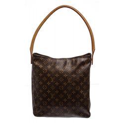 Louis Vuitton Monogram Canvas Leather Looping GM Shoulder Bag