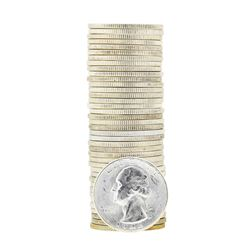 Tube of 40 1946S Washington Quarter Dollars