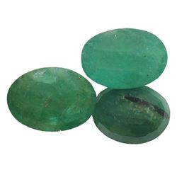 7.3 ctw Oval Mixed Emerald Parcel