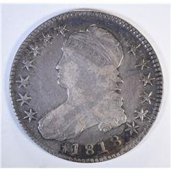 1818 CAPPED BUST HALF DOLLAR, VF+