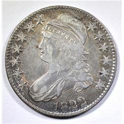 1822 BUST HALF DOLLAR, XF/AU