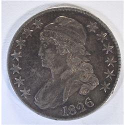 1826 CAPPED BUST HALF DOLLAR, AU