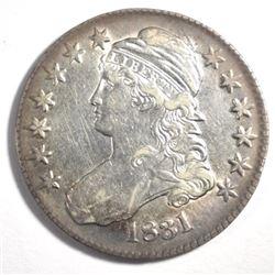 1831 BUST HALF DOLLAR, AU/BU