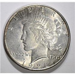 1928-S PEACE DOLLAR, CH BU