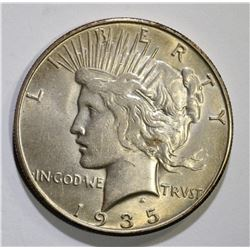 1935-S PEACE DOLLAR, CH BU