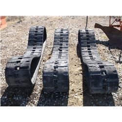 3 Rubber Tracks with Metal Teeth- Make Great Field Drags