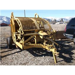 Anderson Pull Behind Rock Picker- Hydraulic- 6'- Recent Work- Made in Helena MT- Fair Condition