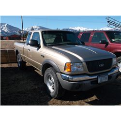 2001 Ford Ranger XLT Pickup- 4X4- 5 Speed- Extended Cab- 6' Box- Runs and Drives Good