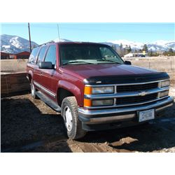 1998 Chevrolet Suburban- 4X4- Automatic- Runs and Drives- Engine Needs Replaced- 212,794- Clear MT T