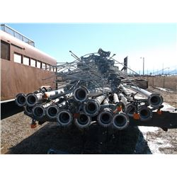 """Wheel Line With Heads- 16 Wheels- 15 40' X 4"""" Pipes- Extra Spokes- Clamps- Self Leveling"""