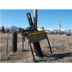 Kiwi Model SK-10 Post Driver- Hydraulic- Fits Any Bobcat- Great Condition