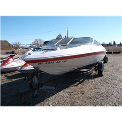 "1990 Chris Craft Fiberglass Boat- 145 HP- Cobra 3.0 Litre Inboard Motor- 18"" Open Bow- Life Jackets-"