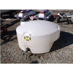200 Gallon Round Plastic Water Tank with Valve