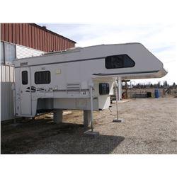 2002 Lance Cabover Slide-In Pick Up Camper- 6' Slide Out- Side Door- Gas- Electric Fridge- Microwave