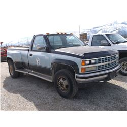 1989 Chevy C3500 4X4 Dually Pick Up- Fuel Injected 454- Automatic- Gear Vender Overdrive- Gooseneck