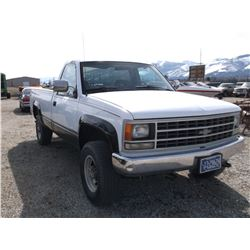 1990 2500 Chevy 4X4 Pick Up- 4 Speed- 350 Engine Recently Installed- Straight Body