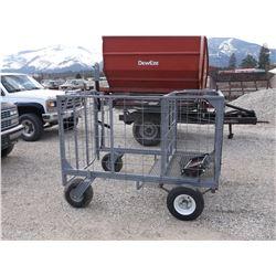 """ATV Calf Cage- Homemade- Stout- Hitch- 74"""" X 45""""- Good Rubber"""