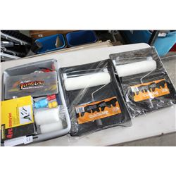 THREE PAINT ROLLER TRAY SETS