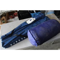 2 CAMP CHAIRS AND SLEEPING BAG