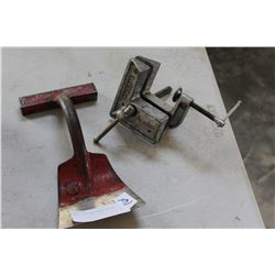 SMALL VICE AND FLOOR CHISEL