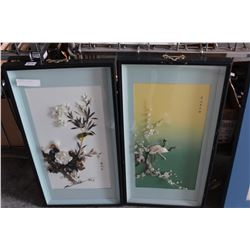TWO EASTERN SHADOW BOXES