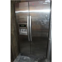 STAINLESS KITCHEN AID SIDE BY SIDE FRIDGE WITH WATER AND ICE, TESTED AND WORKING, GURANTEED