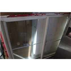 58 BY 47 INCH SLIDING DUAL PANE WINDOW WITH LOCK