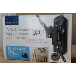 NEW OVERSTOCK 13-12 INCH INSIGNIA TILTING TV WALL MOUNT