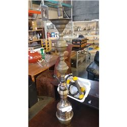 TALL BRASS HOOKAH, WITH WAND